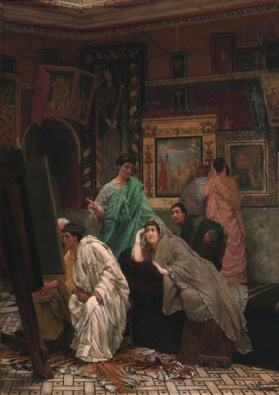 Alma-Tadema, Sir Lawrence: A Collection of Pictures at the Time of Augustus. Fine Art Print/Poster. Sizes: A4/A3/A2/A1 (003809)